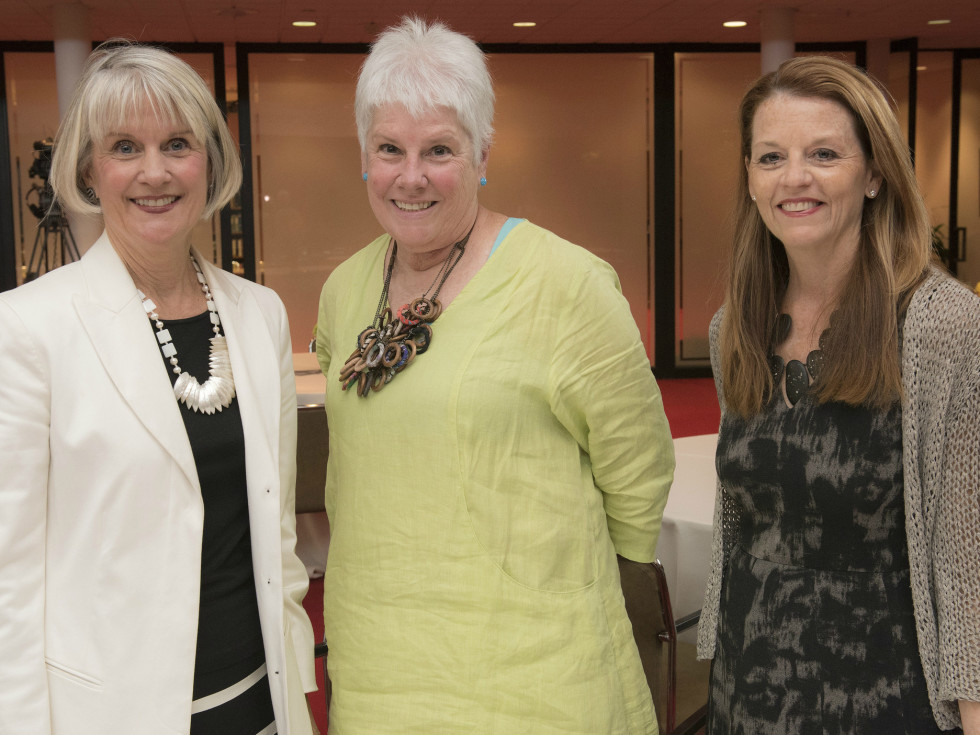 Women in Leadership luncheon LBJ Future Forum May 2016 Carolyn Wright, Mary-Ellen Thomas Susan Palombo