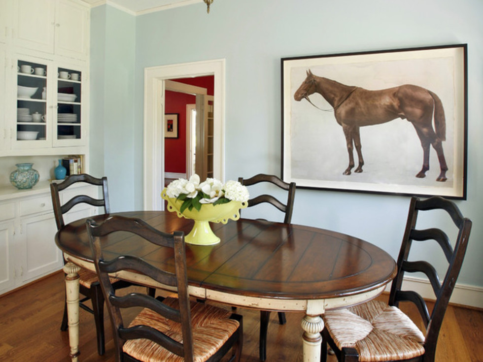 Houzz Fort Worth home tour Ryan Place breakfast room