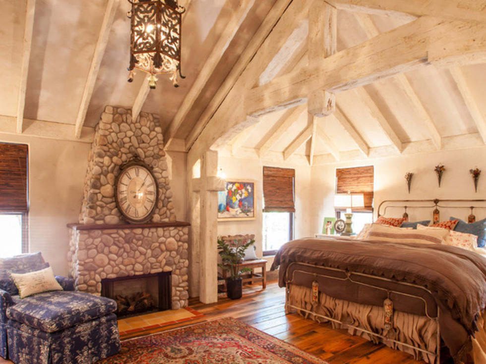 Dallas University Park home Houzz tour rustic bedroom