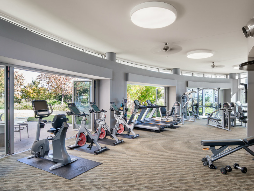 Fitness center at AMLI Design District