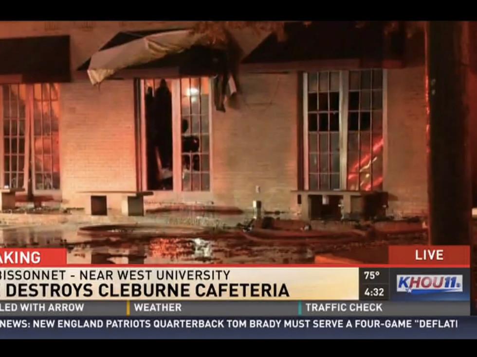 Cleburne Cafeteria Fire
