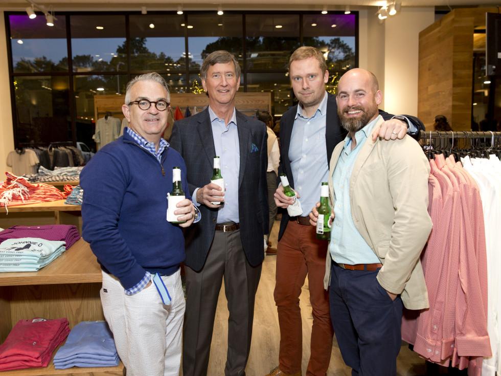 Houston, Saint Bernard opening party, April 2016, Jim Farrell, Richard Callicutt, Ryan Meyer, Chris Cummings