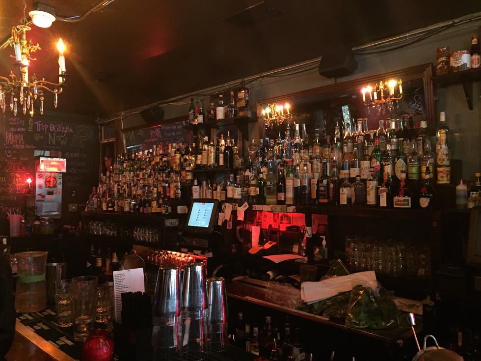 Grand Prize back bar