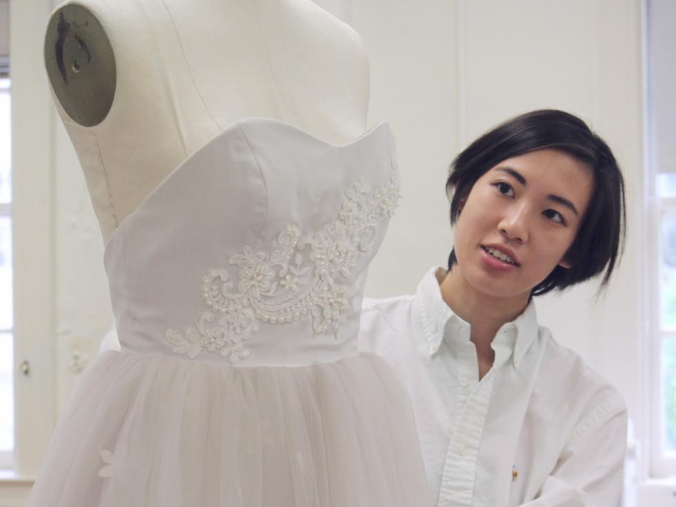 University of Texas fashion show Elements preview class April 2016 wedding dress Tiffany Chan