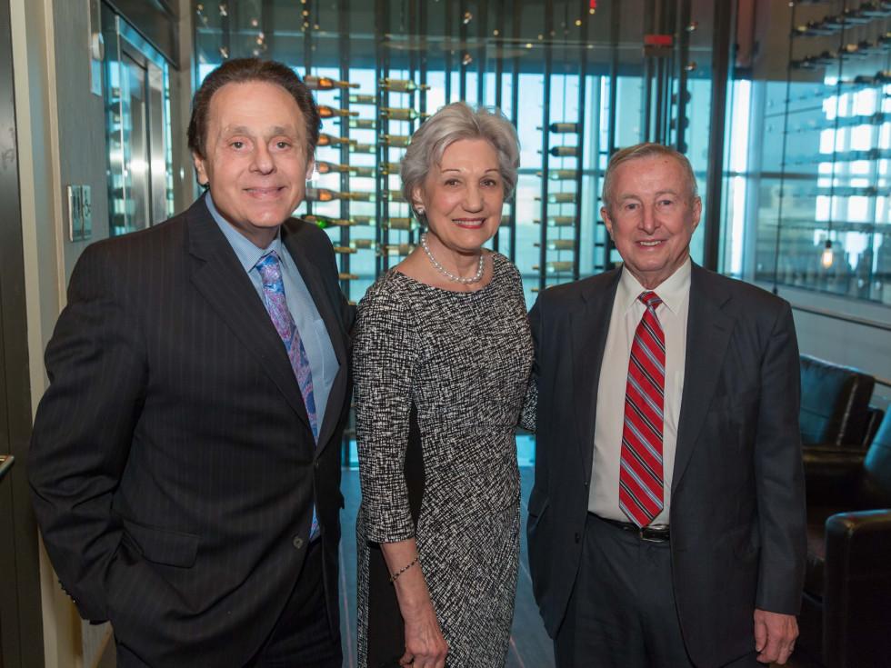 Houston Methodist Leading Hearts, April 2016, Tony Vallone, Anita Gotto, Dr. Tony Gotto