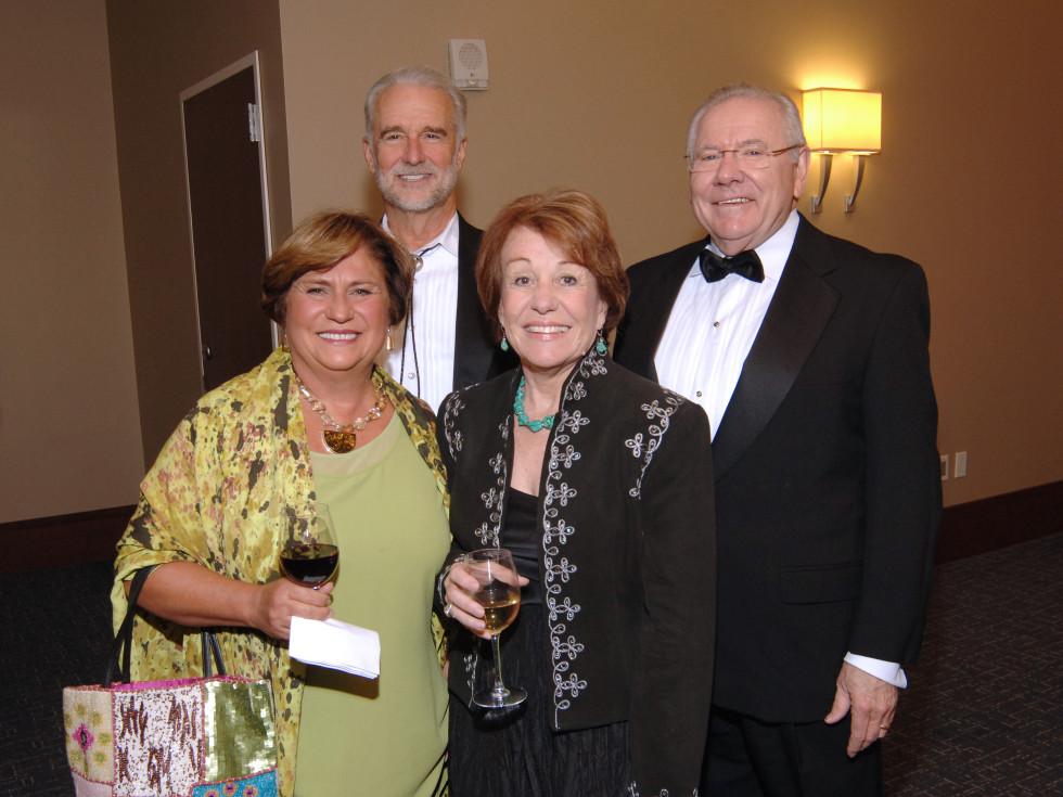 UH Law gala, April 2016, Joanne Miller, Judge Gray Miller, Mary Schneider, Judge Michael Schneider