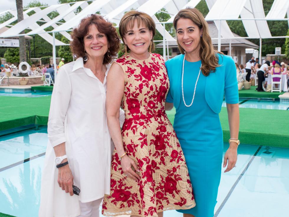 River Oaks Tennis Luncheon, April 2016, Donna Vallone, Hallie Vanderhider, Kristina Somerville