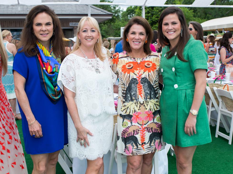 River Oaks Tennis Luncheon, April 2016, Mary Ann Detmering, Courtnay Elias, Bonnie Chumbley, Lila Chumbley