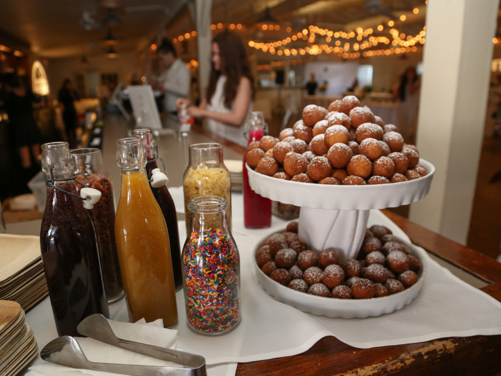 CultureMap Social: The Art Edition at Palm Door donut holes decorating station Pink Avocado Catering