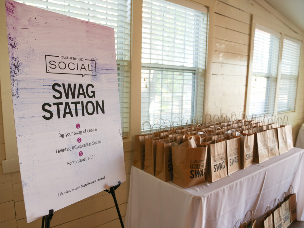 CultureMap Social: The Art Edition at Palm Door swag bag station