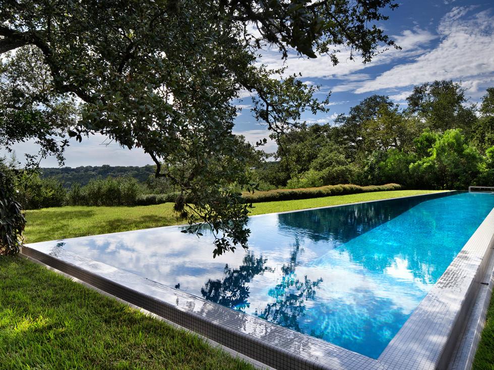 Austin home Floating Box House 900 Live Oak Circle West Lake Hills 78746 April 2016 pool