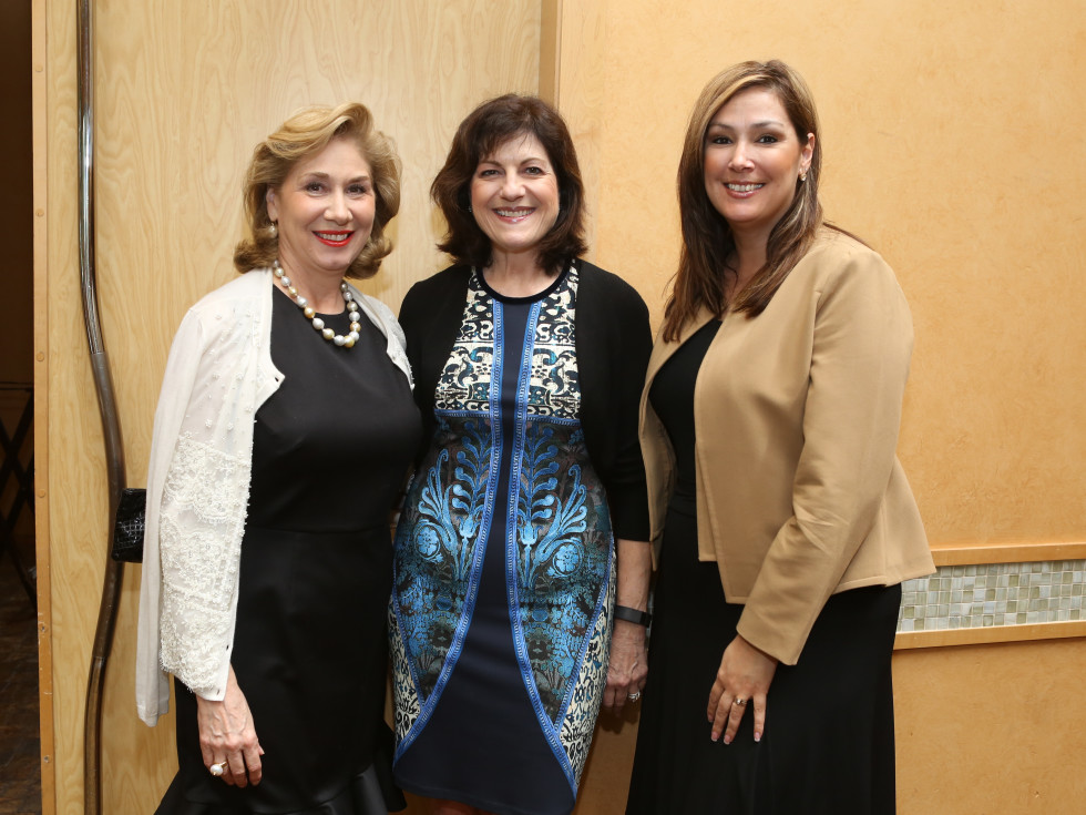 HGO Ball luncheon, March 2016, Denise Bush Bahr, Ellie Francisco, Jackie Callies