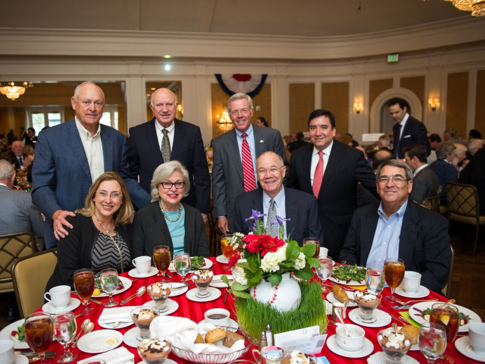 Christus Foundation Luncheon, March 2016, Nolan Ryan, Charlie Reed, Les Cave, Richard Torres, Lisa Martin, Vicky Smith, Steve Smith, Tom Brown