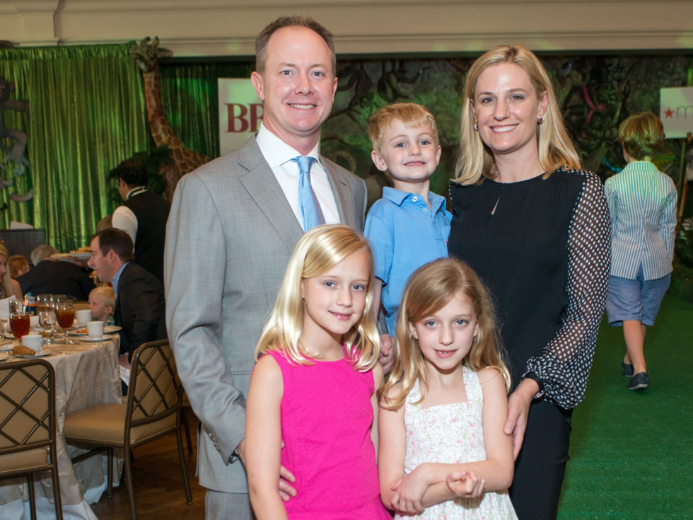 Houston Symphony Children's Fashion Show, March 2016, Billy and Christie McCartney, Katie, Kinley, Kellen