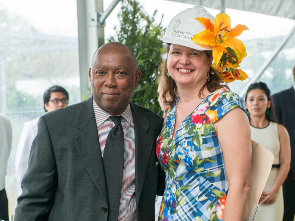 Hats in the park, March 2016, Mayor Sylvester Turner, Doreen Stoller