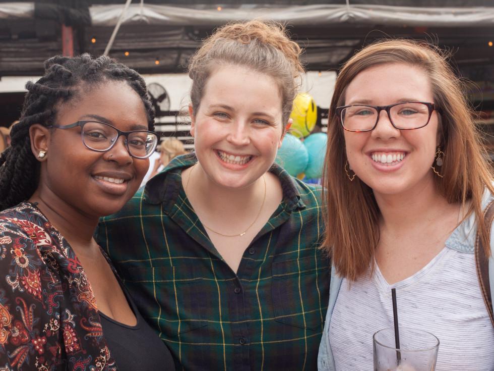 Casa de Esperanza chili cook-off, March 2016, Nyisha Webb, Claire Armstrong, Wendy Usher