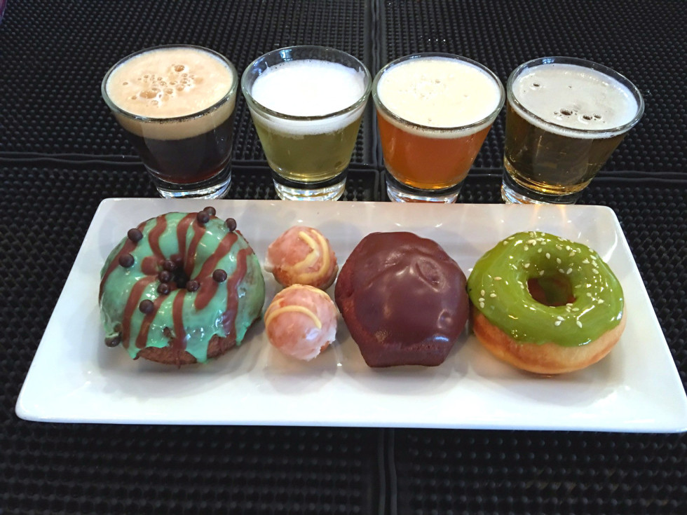 Doughnut and beer pairing at LUCK Trinity Groves