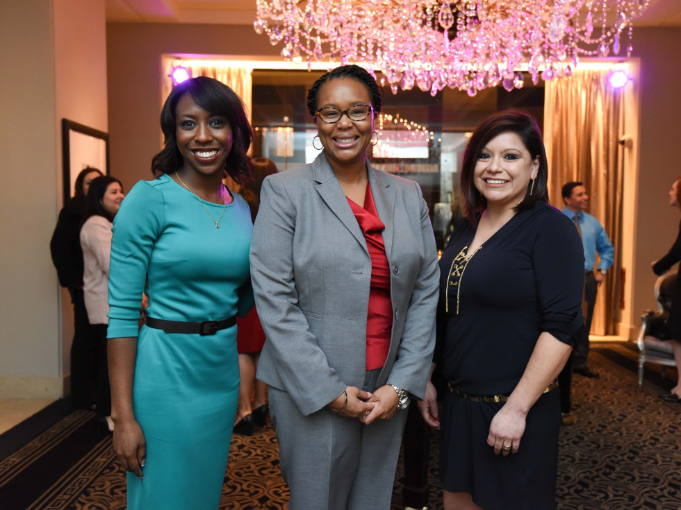 El Centro luncheon, Feb. 2016, Ryane Jackson, Kavon Young, Shannon Hart