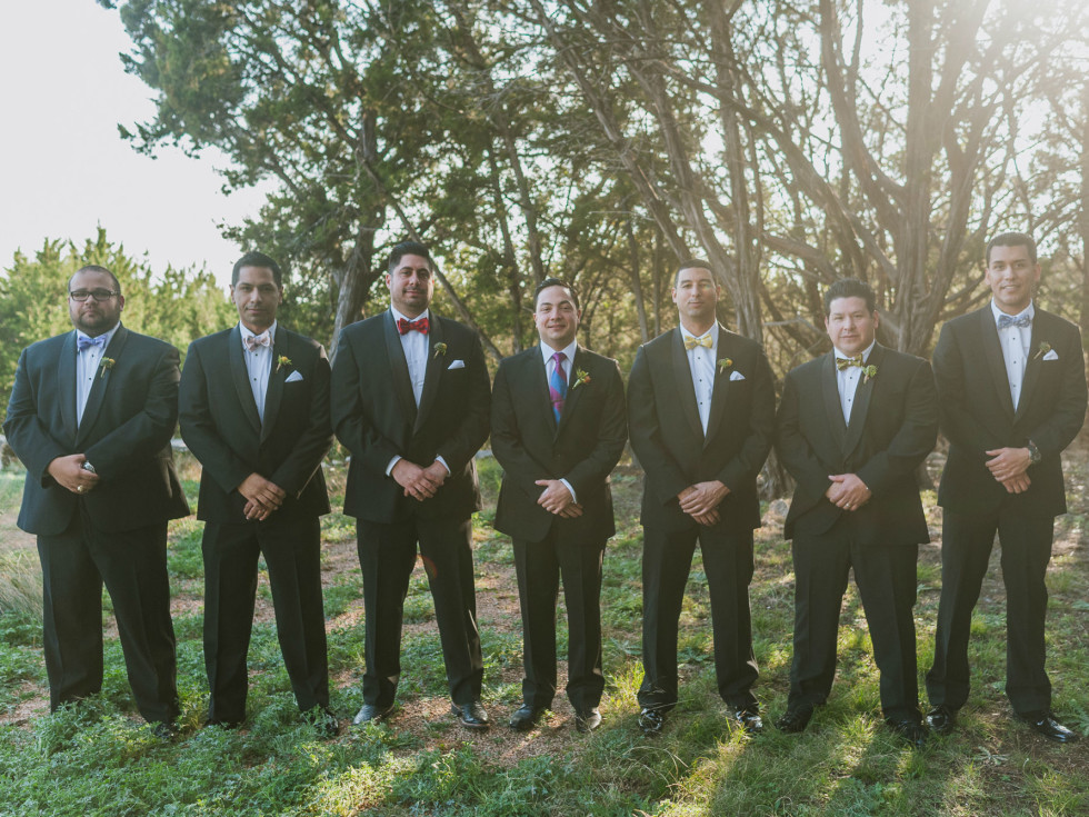 Heritage House wedding groomsmen