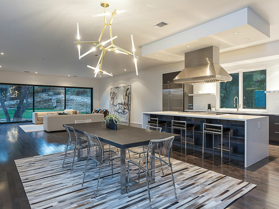 2016 Austin Modern Home Tour house 2510 Trail of Madrones Sago International kitchen dining living