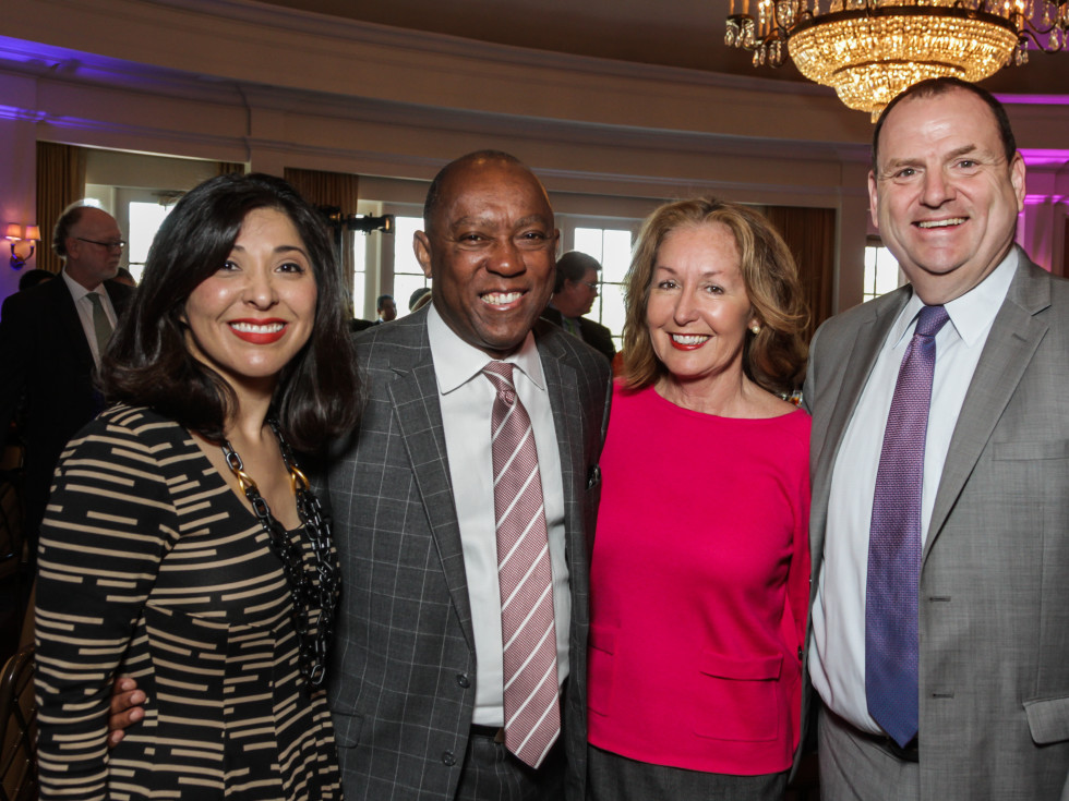 HSPVA luncheon, Feb. 2016, Juliet Stipeche, Sylvester Turner, June Christensen, Perryn Leech