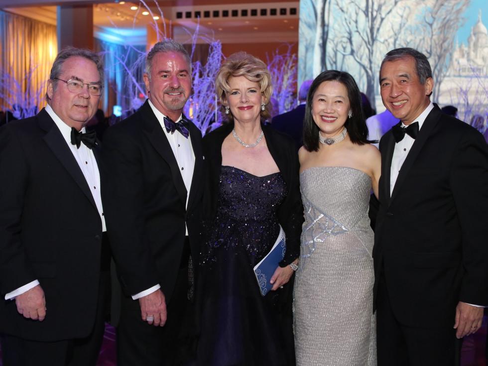 Houston Ballet Ball, Feb. 2016,  Mike Hood, Marcia Backus, Terry Wayne Jones, Anne Chao, Albert Chao