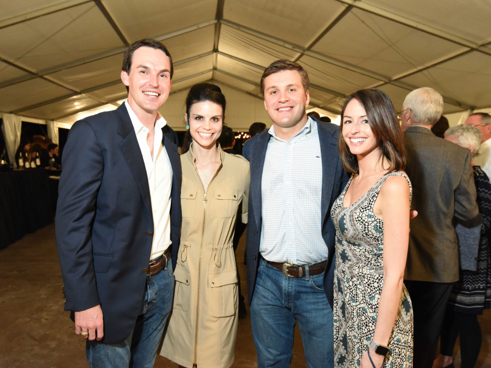Houston Zoo Ambassadors Gala Justin Lusk, Katherine Lusk, Dallas Hall, Amanda Evans