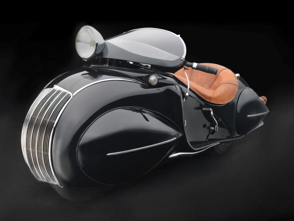 Sculpted in Steel, KJ Streamline Motorcycle, 1930
