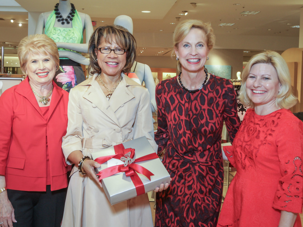 March of Dimes Tea, Feb. 2016 Ginger Blanton, Merele Yarborough, Pam Sengelmann, Maureen Higdon