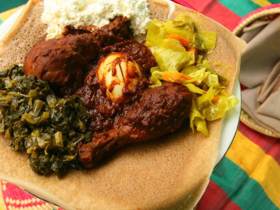 Aster's Ethiopian Restaurant Austin food dish