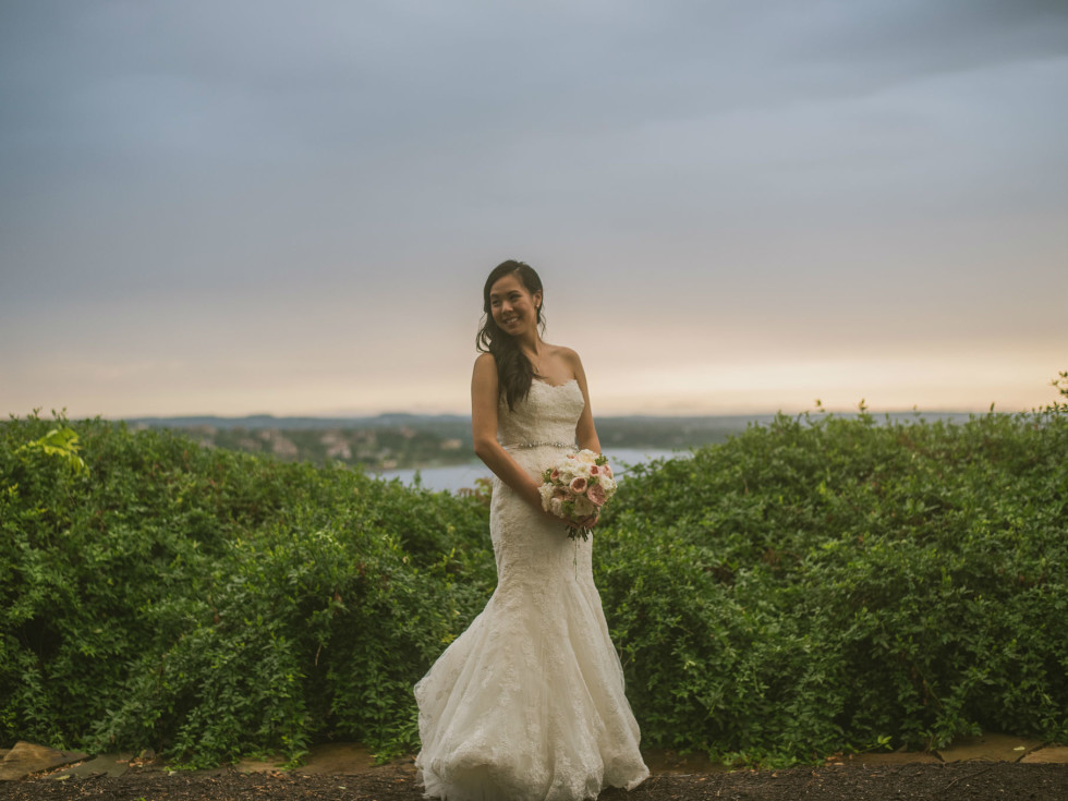 Pauline and Dayle Chang bridal shot
