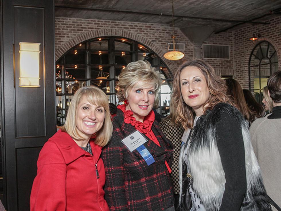Greater Houston Women's Chamber of Commerce luncheon, Feb. 2016, Susan Dray, Mary Ann Wilkins, Ariana Smetana