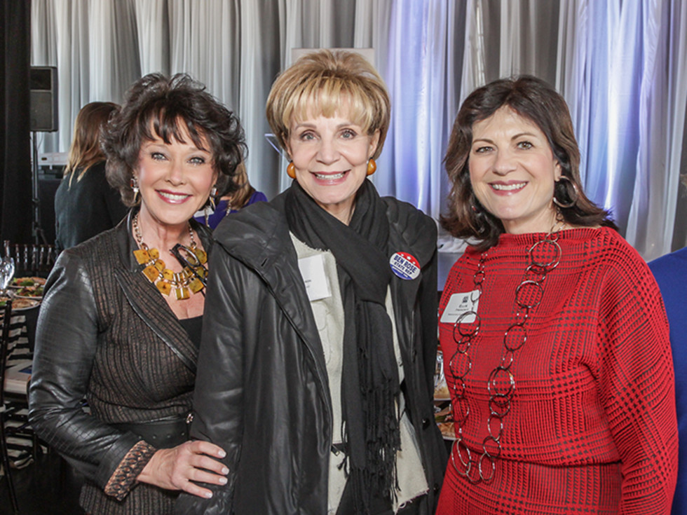 Greater Houston Women's Chamber of Commerce luncheon, Feb. 2016, Janet Flippin, Leisa Holland-nelson, Ellie Francisco
