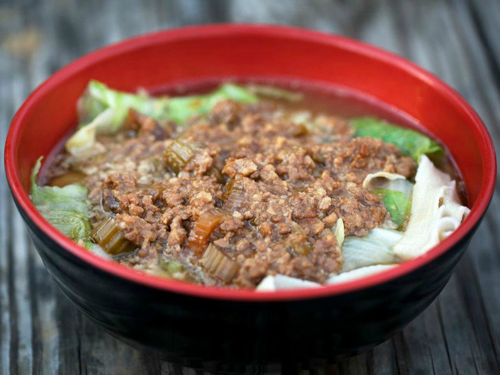 Julie's Handmade Noodles dish za jian mein