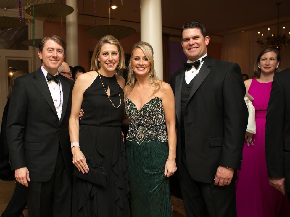Junior League Gala, Feb. 2016, Jon Daly, Jennifer Daly, Amy Dunn, Kevin Comiskey