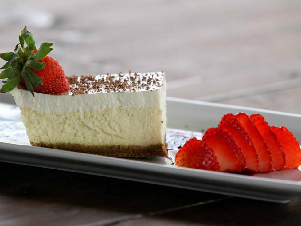 Oak Valley Vineyard cheesecake dessert