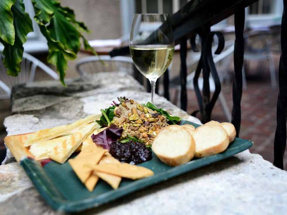 Zinc Bistro & Wine Bar liver pate glass wine