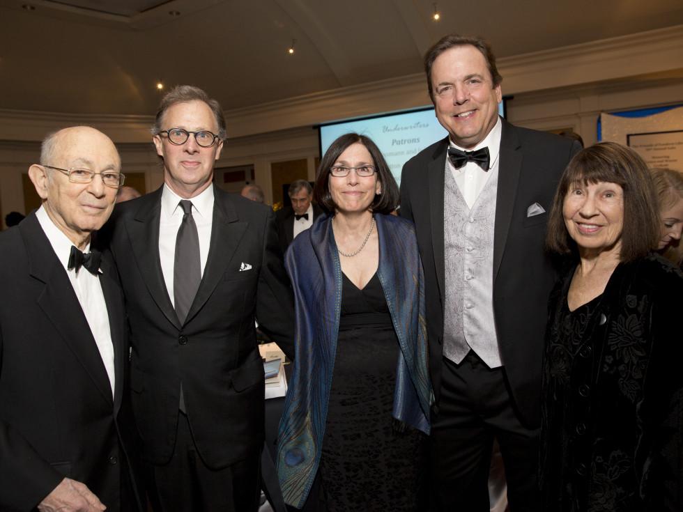 Friends of Fondren Library, Feb. 2016, Bob Grossman, Scott Harvey, Nancy Bolduc, Tom Drozdowski, Ellin Grossman