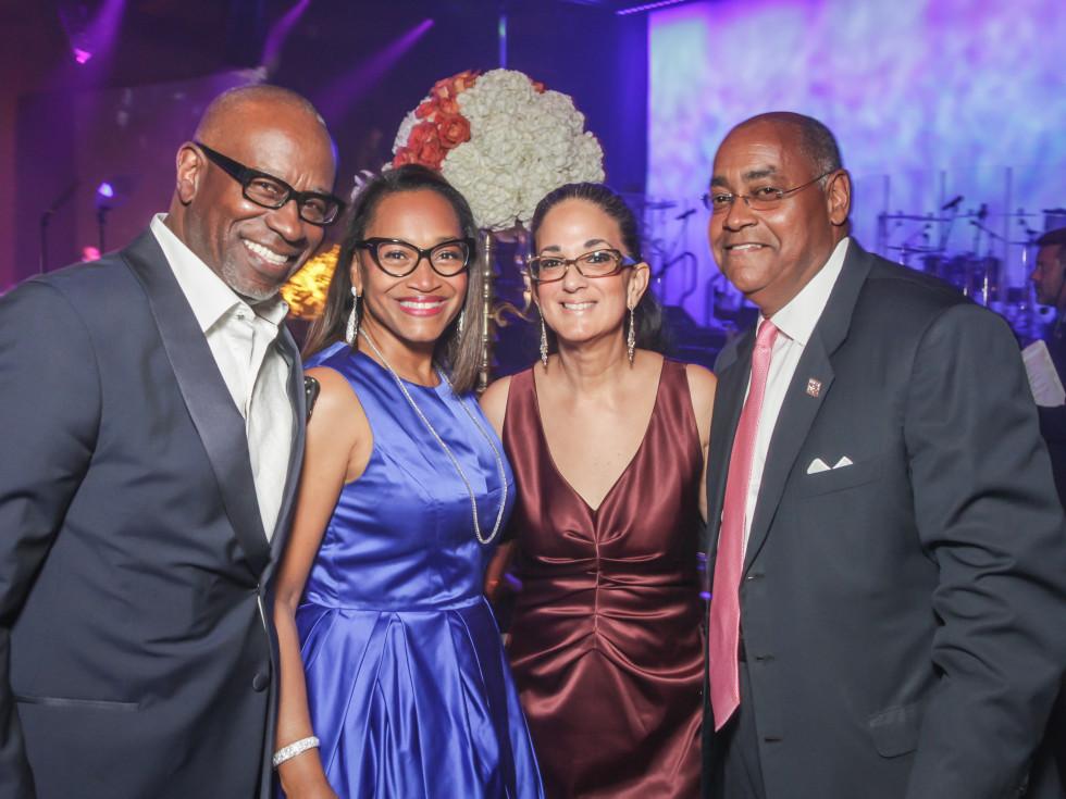 CAMAC 30th anny gala, Jan. 2016, Gerald Smith, Anita Smith, Licia Green Ellis, State Sen. Rodney Ellis