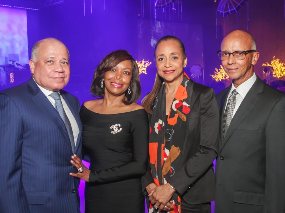 CAMAC 30th anny gala, Jan. 2016, Dr. John Clemmons, Lora Clemmons, Cheryl Creuzot, Percy Creuzot