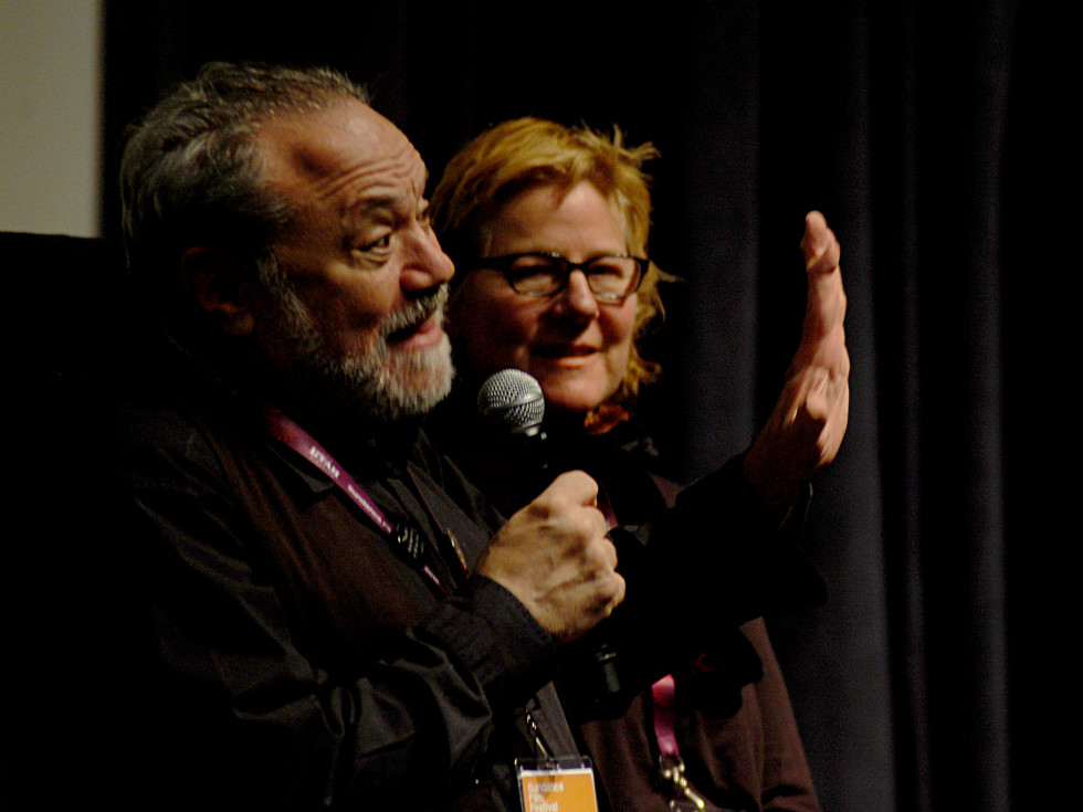 Louis Black and Karen Burnstein at Sundance screening of Richard Linklater Dream is Destiny