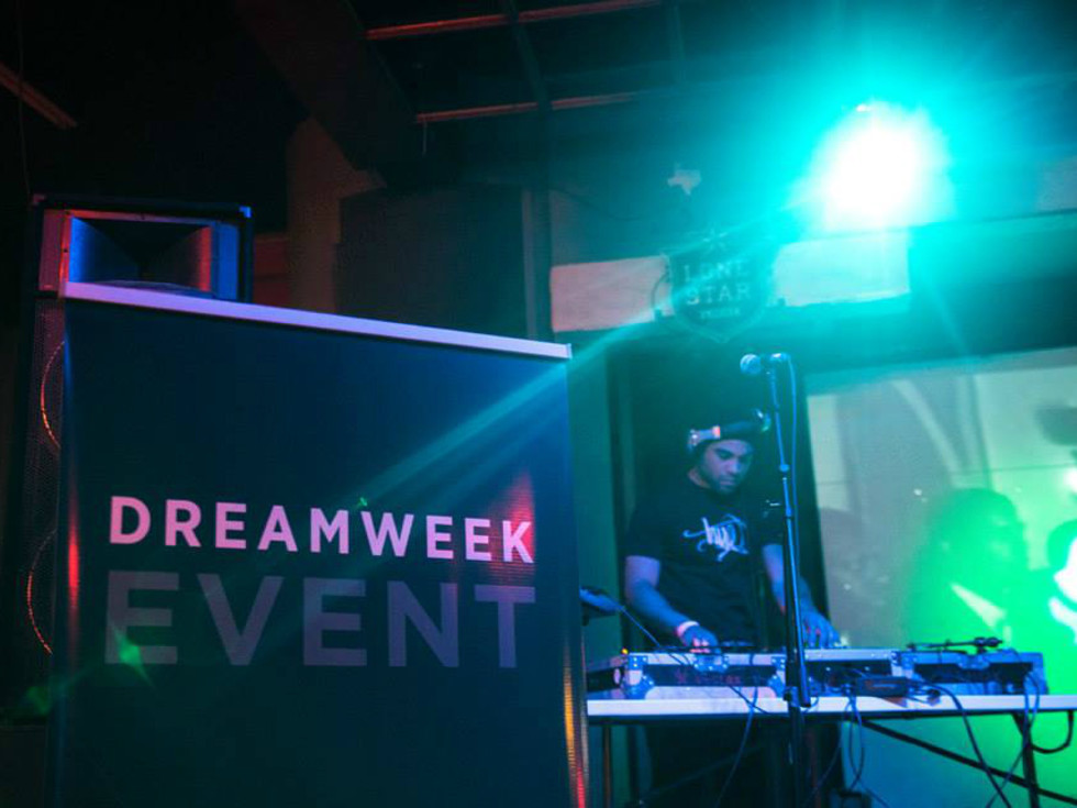 DreamWeek event sign 2015 DJ Johnny Zip San Antonio