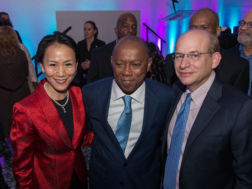 News, Mayor Sylvester Turner Inauguration, Jan. 2016, MFAH, Y. Ping Sun, Sylvester Tuner, David Leebron