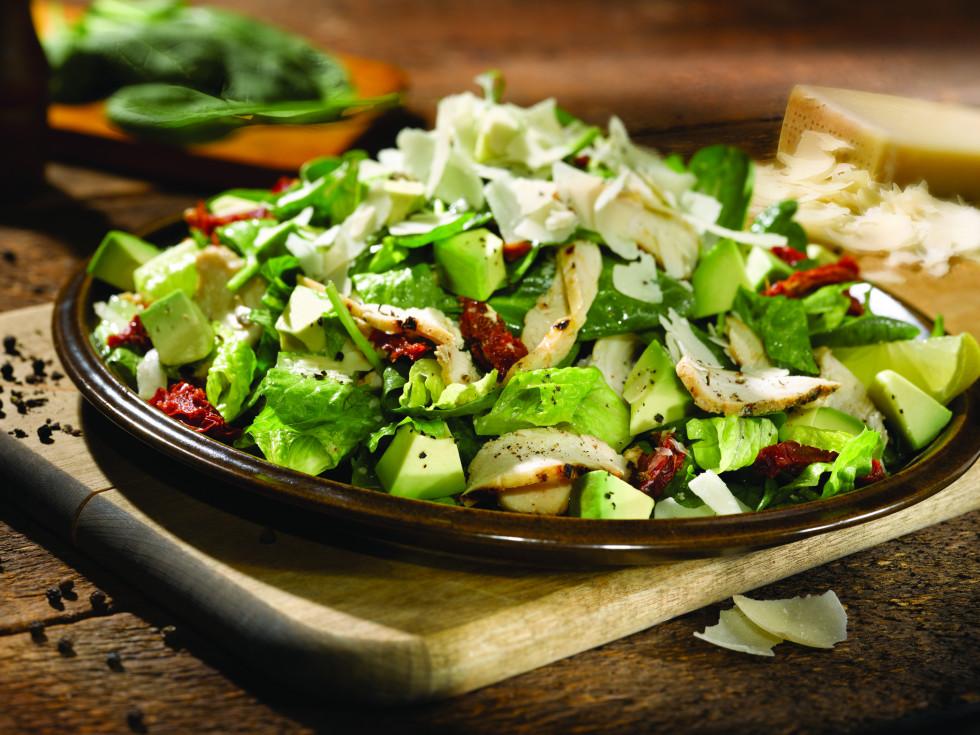 Old Chicago spinach chicken avaocado salad