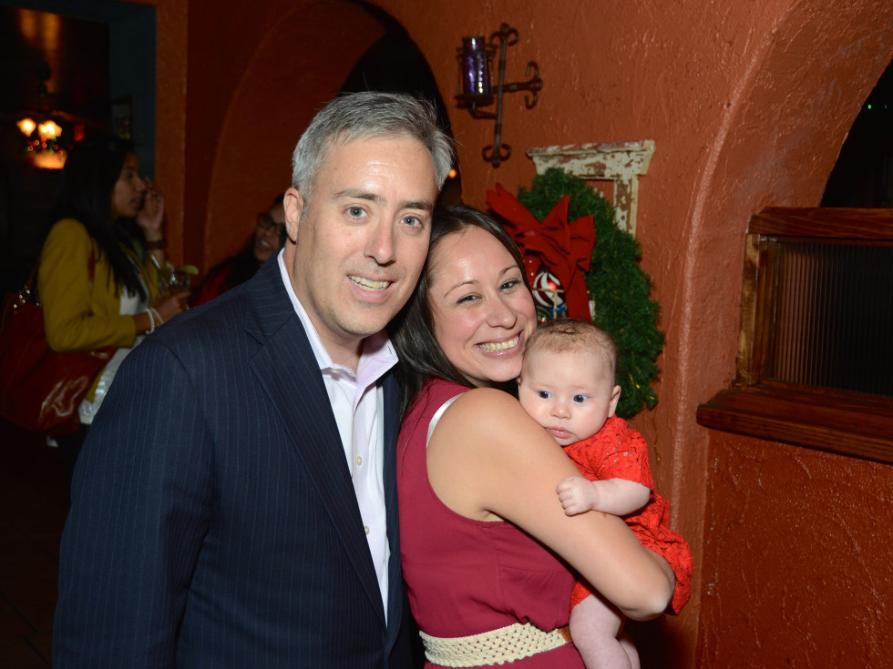 News, Mayor's Hispanic Advisory Board party, Dec. 2015,  Chris Canonico, Lauren Soliz, and baby Caylee Canonico