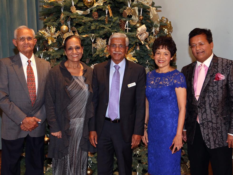 Pratham Holiday Party Anil Shah, Vijay Bhuchar, Swatantra Jain, Dr. Marie Goradia, Ash Shah.
