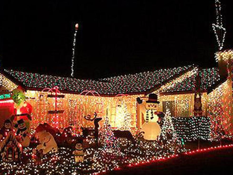 Christmas lights at Interlochen in Arlington