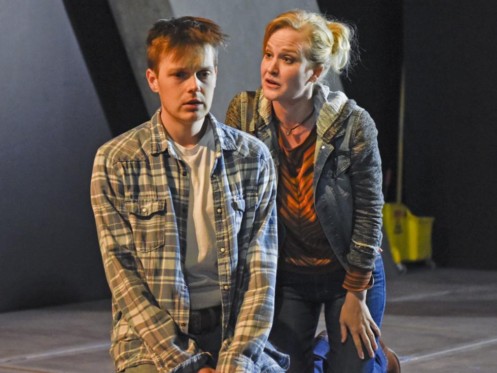 Sam Lilja and Heidi Armbruster in Dallas Theater Center's Clarkston