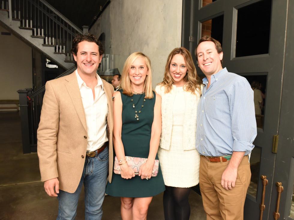 News, Pier & Beam party, Dec. 2015, David Denenburg, Lexie Boudreaux, Frani Denenburg, Aaron Boudreaux.