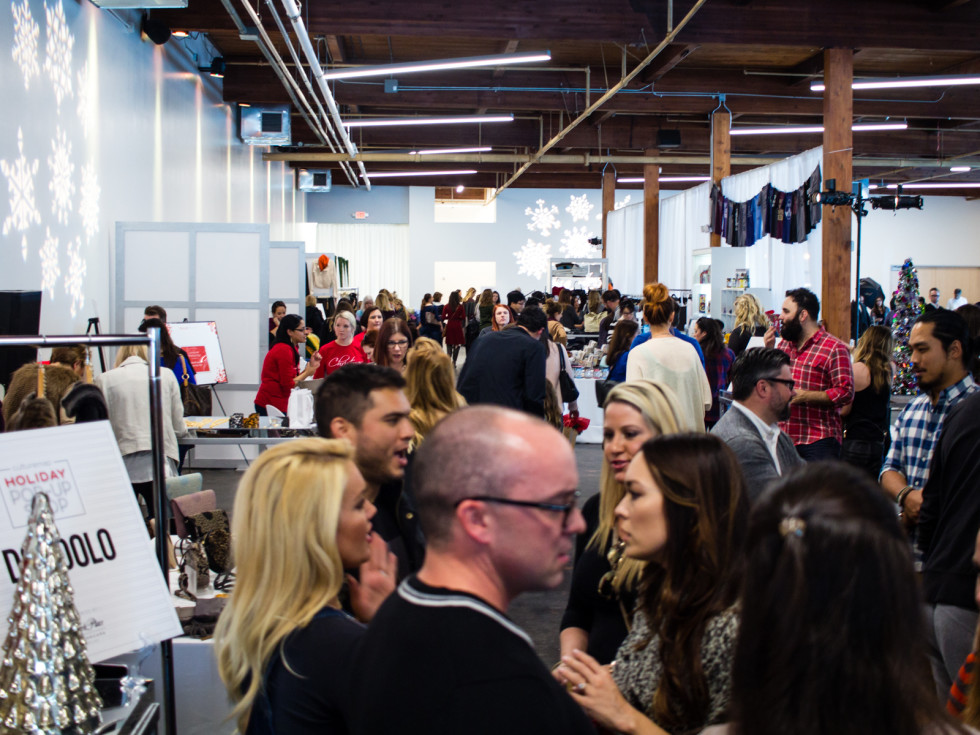 The crowd at Holiday Pop-Up Shop